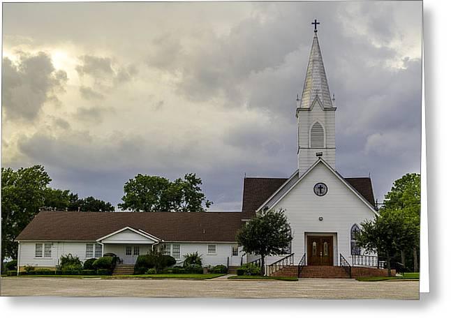St John Lutheran Church Of Prairie Hill Greeting Card by David Morefield