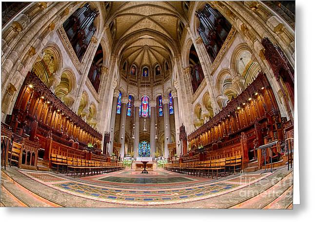 The Vault Digital Greeting Cards - St John the Divine Sanctuary Greeting Card by Jerry Fornarotto