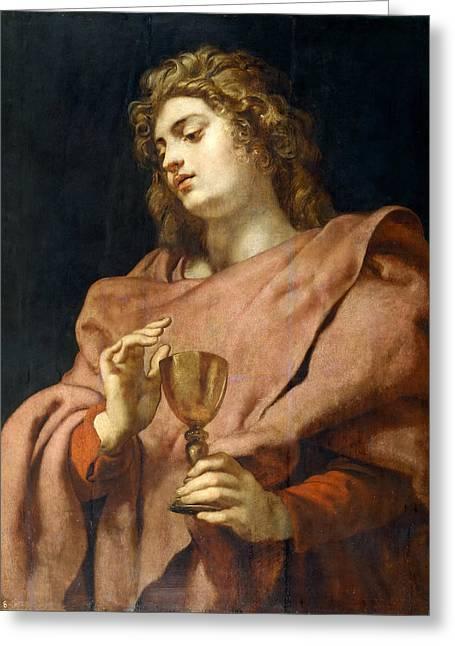 St John The Evangelist Greeting Card by Peter Paul Rubens
