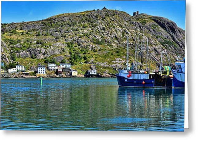 Historic Home Greeting Cards - St. Johns Battery Panorama Greeting Card by Steve Hurt