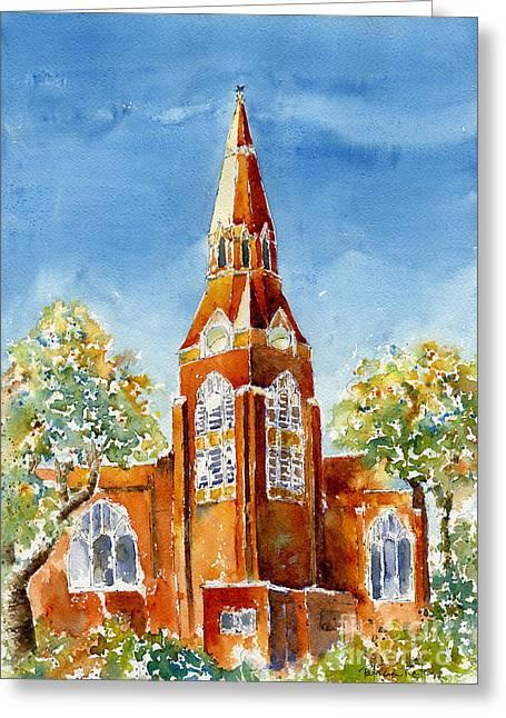St John's Cathedral Greeting Card by Pat Katz