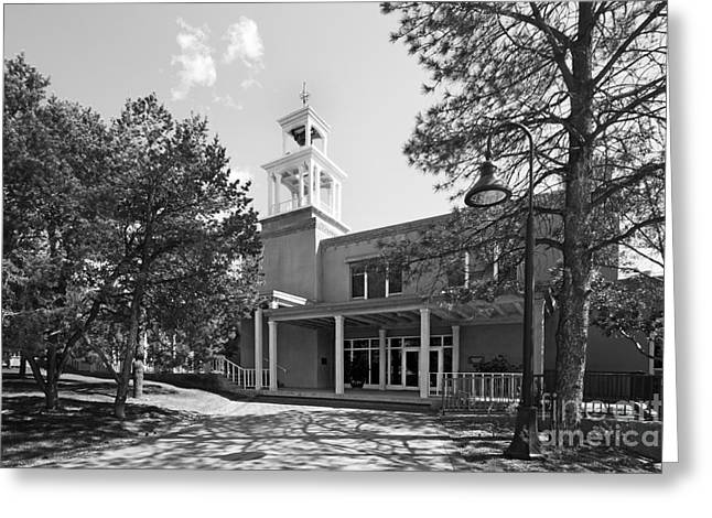 Small Towns Greeting Cards - St. Johns College Santa Fe Weigle Hall Greeting Card by University Icons
