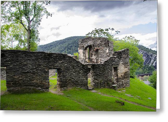 Harpers Ferry Digital Greeting Cards - St. Johns Episcopal Church Ruins  Harpers Ferry WV Greeting Card by Bill Cannon
