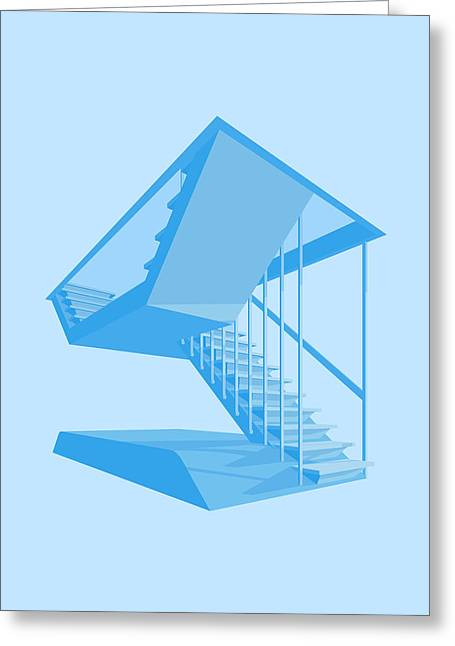 Brutalism Greeting Cards - St Johns Stairs Greeting Card by Peter Cassidy