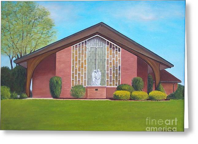 Md Paintings Greeting Cards - St. Joseph Catholic Church Greeting Card by Tricia Lesky