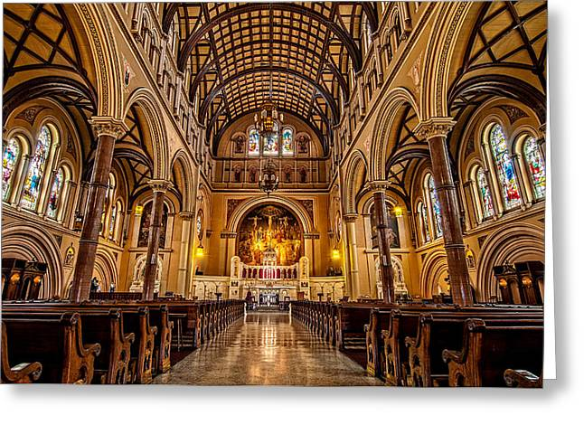 Tulane Greeting Cards - St. Joseph Church Greeting Card by Andy Crawford