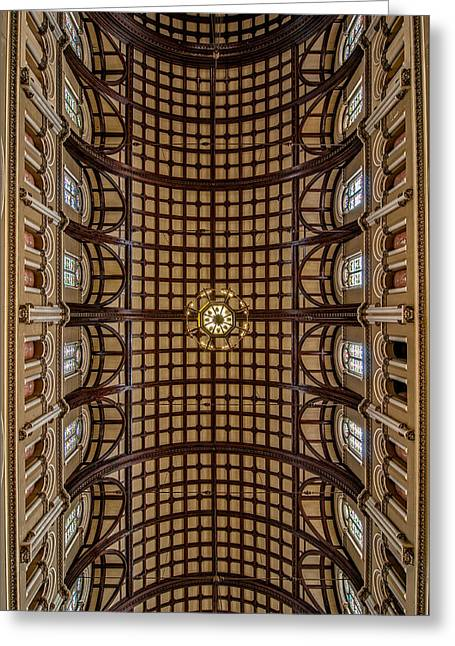Tulane Greeting Cards - St. Joseph Church ceiling Greeting Card by Andy Crawford