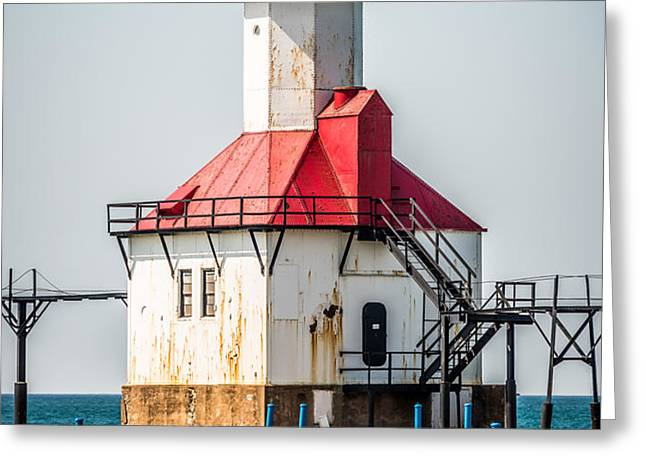 St. Joseph Michigan Lighthouse Picture  Greeting Card by Paul Velgos