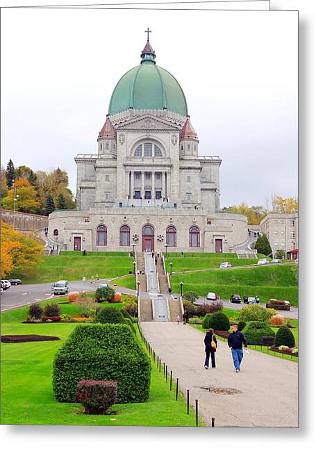 Saint Joseph Greeting Cards - St. Joseph Oratory Greeting Card by Valentino Visentini