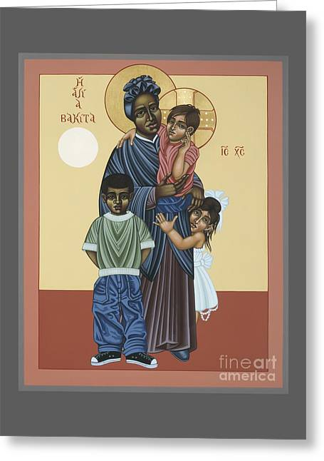 Universal Paintings Greeting Cards - St. Josephine Bakhita Universal Sister 095 Greeting Card by William Hart McNichols