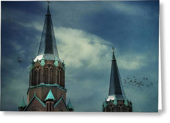 St. Joseph's Catholic Church Greeting Card by Dan Sproul