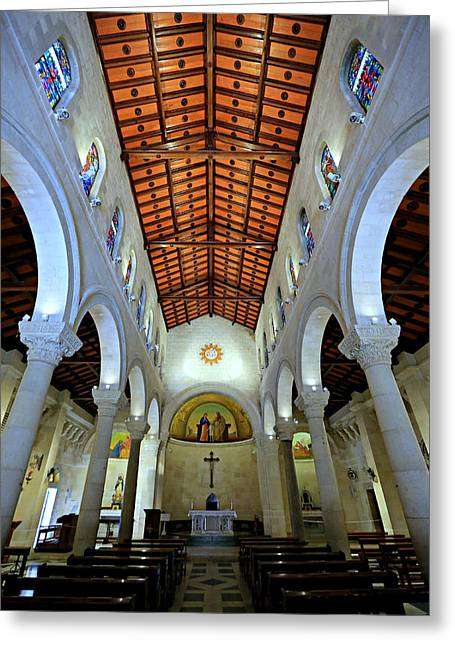 Saint Joseph Greeting Cards - St. Josephs Church -- Nazareth Greeting Card by Stephen Stookey