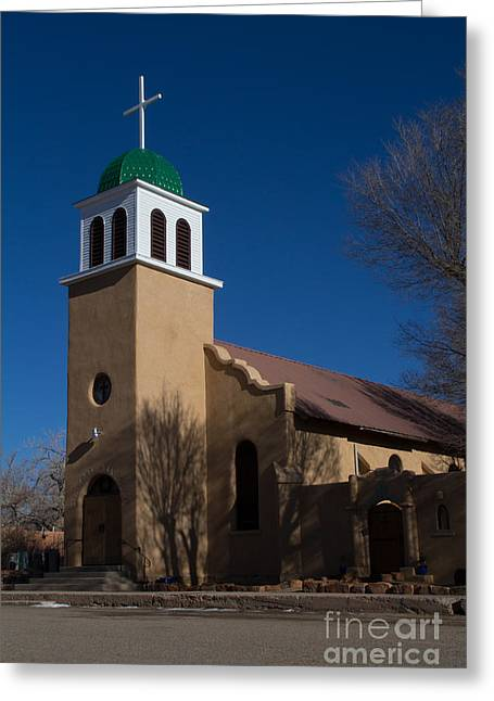 Langtry Greeting Cards - St Josephs Church Greeting Card by Jim McCain