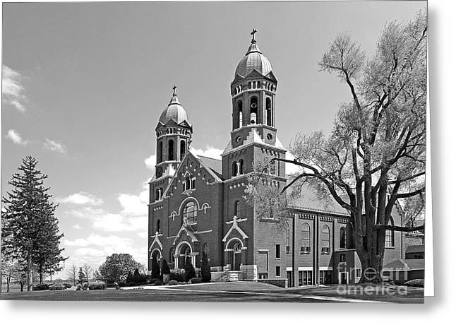Rural Indiana Photographs Greeting Cards - St. Josephs College Chapel Greeting Card by University Icons
