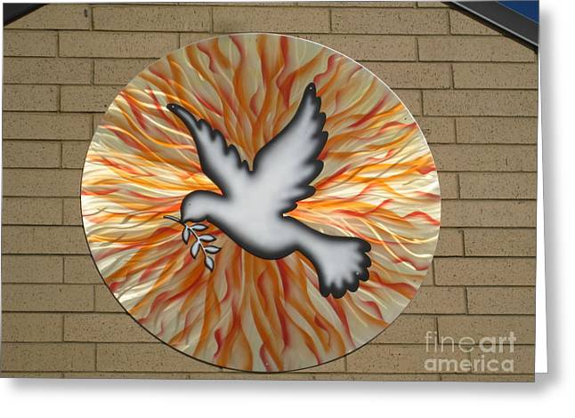 Catholic Sculptures Greeting Cards - St. Josephs Dove Greeting Card by Rick Roth