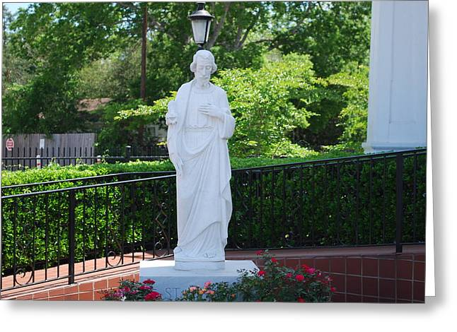 Catholic Sculptures Greeting Cards - St. Jospeh Greeting Card by Michael Rushing