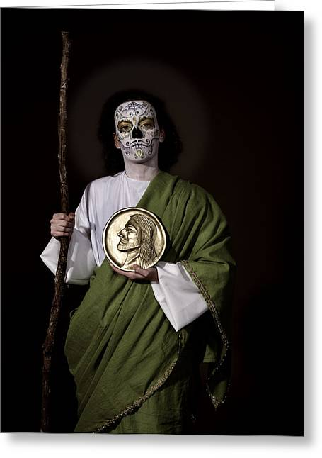 Saint Jude Greeting Cards - St. Jude Greeting Card by Tony Romo