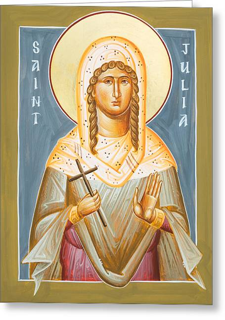 Julia Bridget Hayes Greeting Cards - St Julia of Carthage Greeting Card by Julia Bridget Hayes