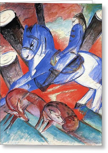 Saint Marc Greeting Cards - St Julian 1913 Greeting Card by Franz Marc