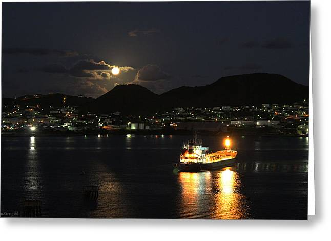 Moonrise Greeting Cards - St Kitts Greeting Card by Justin Zirngibl
