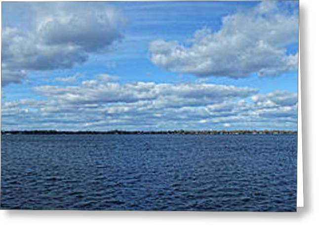 St. Laurent Greeting Cards - St Lawrence River Panoramic Greeting Card by Maggy Marsh