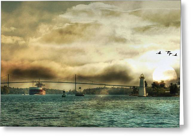 Ldeiter78 Digital Art Greeting Cards - St. Lawrence Seaway Greeting Card by Lori Deiter