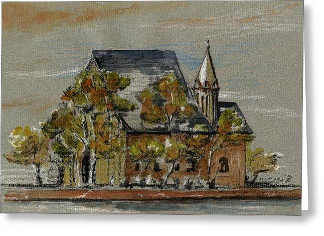 Gothic Germany Greeting Cards - St Leonhardskirche Greeting Card by Juan  Bosco