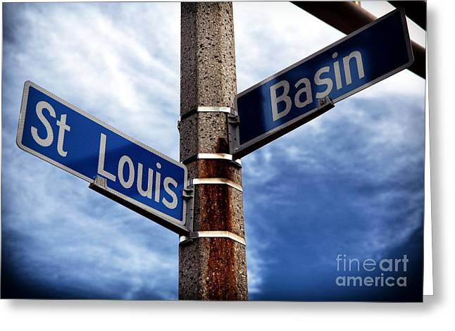 St. Louis Artist Greeting Cards - St. Louis and Basin Greeting Card by John Rizzuto