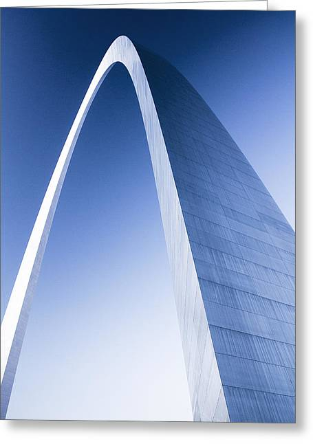 Arches Memorial Photography Greeting Cards - St Louis Arch at Dusk Greeting Card by Garry McMichael
