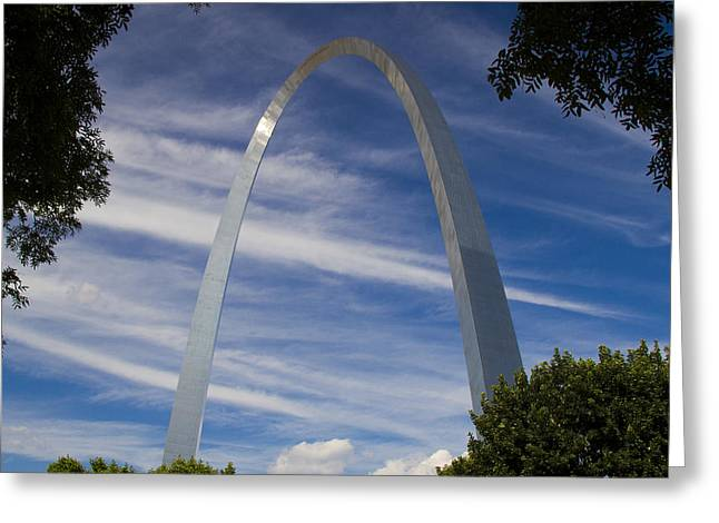 Jefferson National Expansion Memorial Greeting Cards - St Louis Arch Greeting Card by Garry McMichael