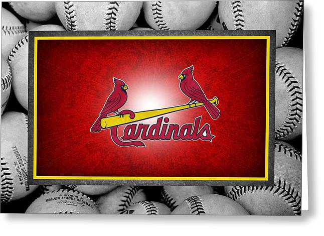 Baseball Stadiums Greeting Cards - St Louis Cardinals Greeting Card by Joe Hamilton