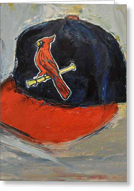 St. Louis Greeting Cards - St Louis Cardinals Greeting Card by Lindsay Frost