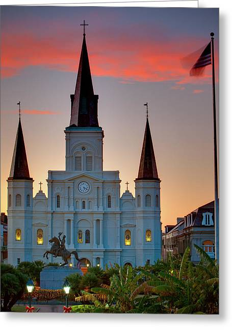 St. Louis Cathedral Greeting Cards - St. Louis Cathedral 15 Greeting Card by Chris Moore