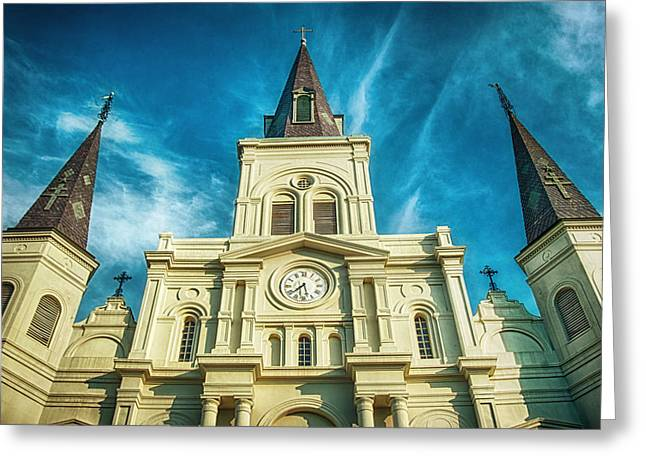 Bryant Photographs Greeting Cards - St. Louis Cathedral Greeting Card by Brenda Bryant