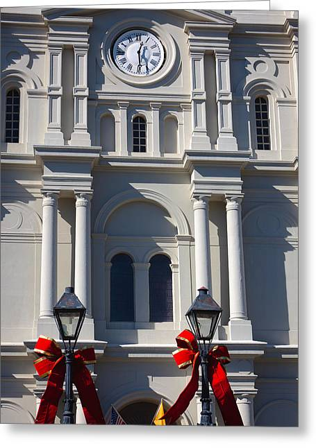 St. Louis Cathedral Greeting Cards - St. Louis Cathedral Christmas Greeting Card by Chris Moore