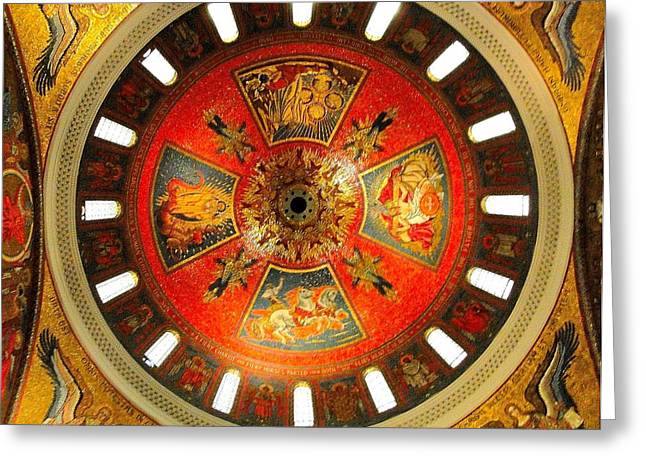 Old Testament Trinity Greeting Cards - St. Louis Cathedral Dome Greeting Card by Cindy Croal