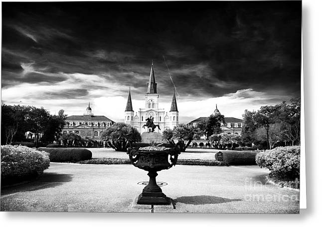 Old School Galleries Greeting Cards - St. Louis Cathedral Greeting Card by John Rizzuto