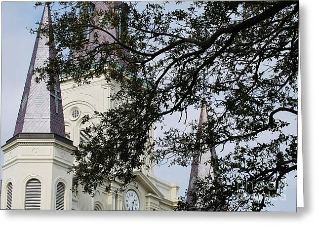 Spire Framed Prints Greeting Cards - St Louis Cathedral New Orleans Greeting Card by Marcus Dagan
