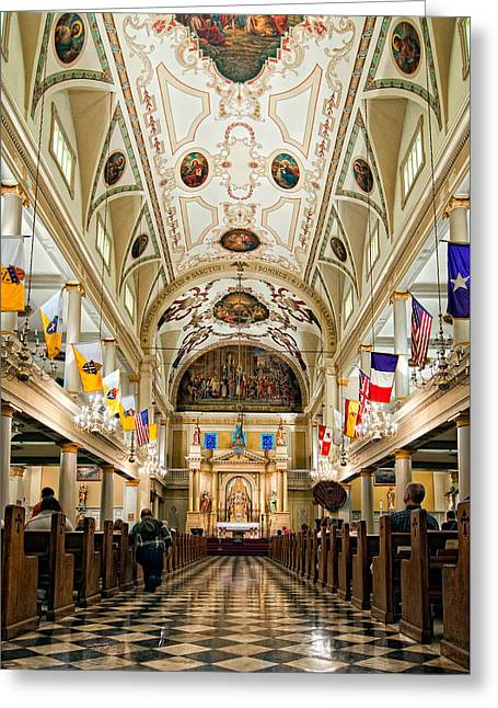 St. Louis Cathedral Greeting Card by Steve Harrington