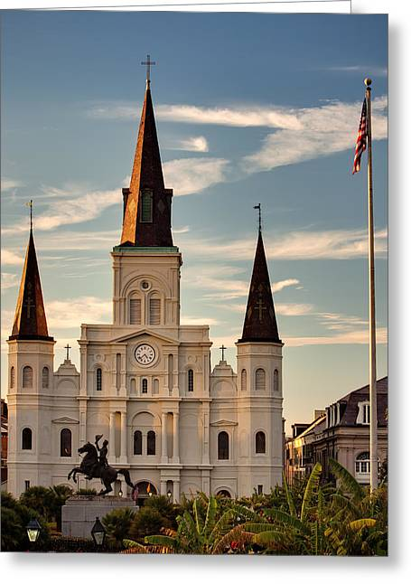 St. Louis Cathedral Greeting Cards - St. Louis Cathedral Va Greeting Card by Chris Moore