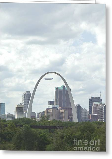St. Louis Cityscape Greeting Card by Kay Pickens