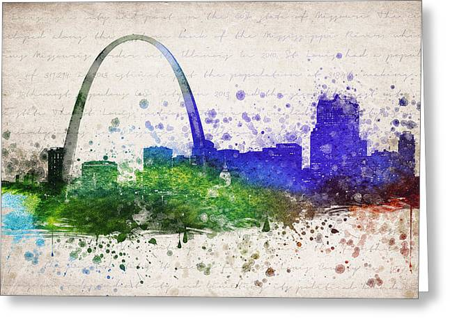 St Louis Missouri Greeting Cards - St Louis in Color Greeting Card by Aged Pixel