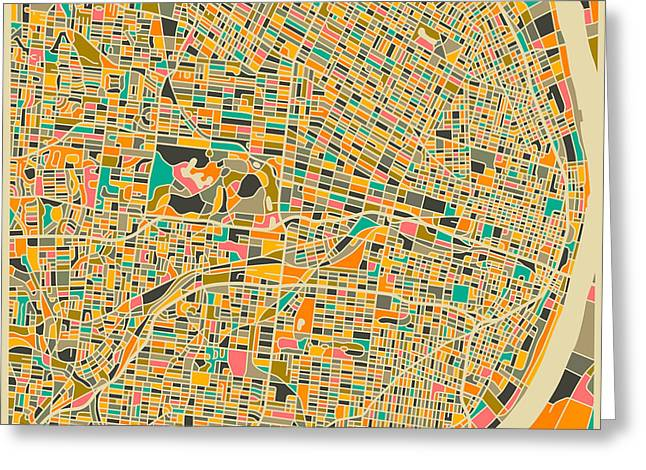"""""""colorful Abstract"""" Greeting Cards - St Louis Greeting Card by Jazzberry Blue"""