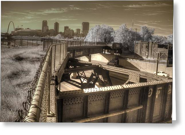Infared Photography Greeting Cards - St. Louis Missouri Greeting Card by Jane Linders