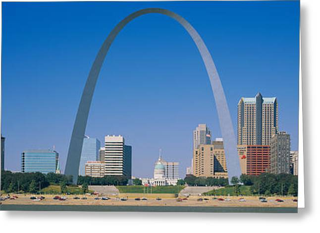 Stainless Steel Greeting Cards - St Louis, Missouri, Usa Greeting Card by Panoramic Images