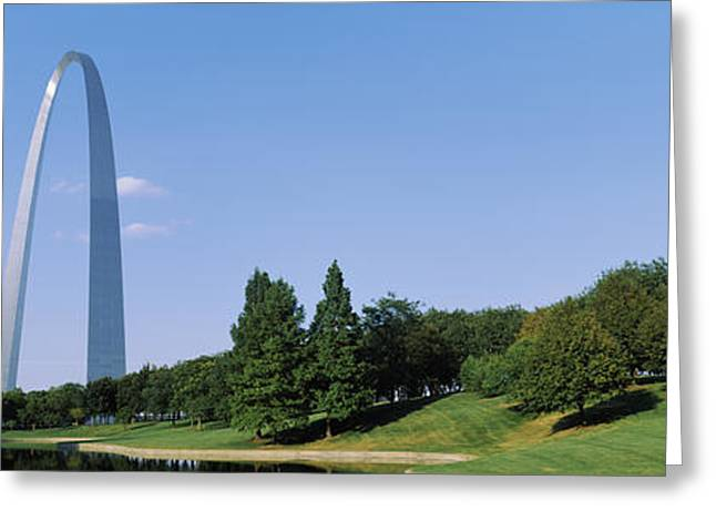 Gateway Arch Greeting Cards - St Louis Mo Greeting Card by Panoramic Images