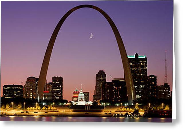 Moonrise Greeting Cards - St Louis Mo Usa Greeting Card by Panoramic Images