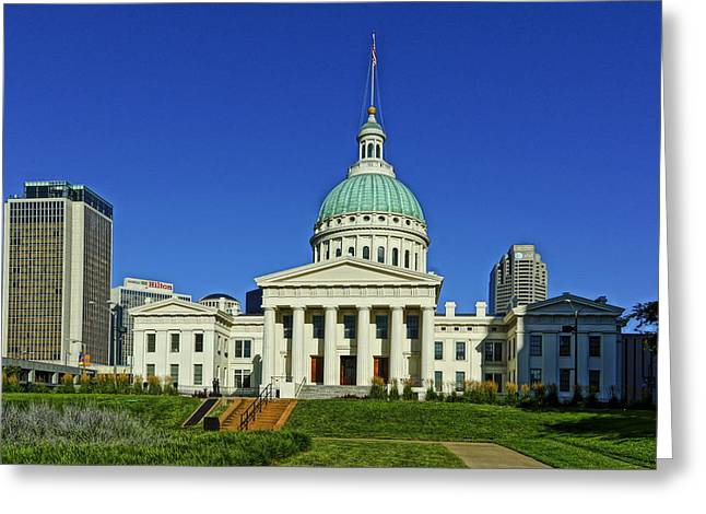 Dred Scott Greeting Cards - St Louis Old Courthouse Greeting Card by Greg Kluempers