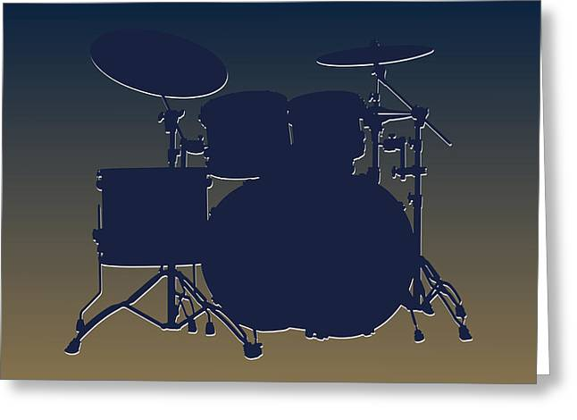 Drum Greeting Cards - St Louis Rams Drum Set Greeting Card by Joe Hamilton