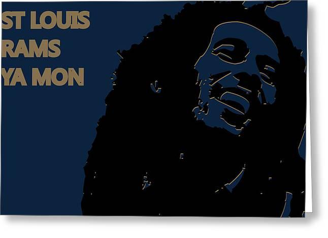 St Louis Rams Ya Mon Greeting Card by Joe Hamilton